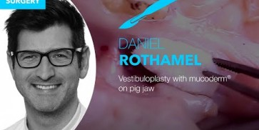 Vestibuloplasty on pig jaw by PD Dr. Dr. D. Rothamel