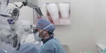 Deep intrabony defect treated with Straumann® Emdogain® - live surgery by Dr. A. Pandolfi
